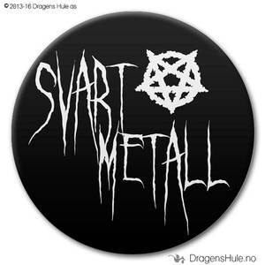 Bilde av  Button: Svart Metall (velg farge)