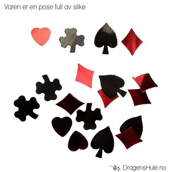 Partypynt: Spillkortsymboler foliekonfetti