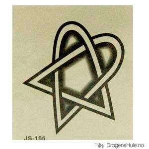 Bilde av Tattis: Heartagramtatovering (midlertidig)