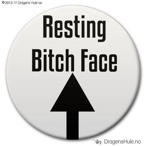 Bilde av  Button: Resting Bitch Face (velg farge)