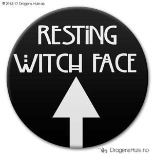 Bilde av  Button: Resting Witch Face (velg farge)