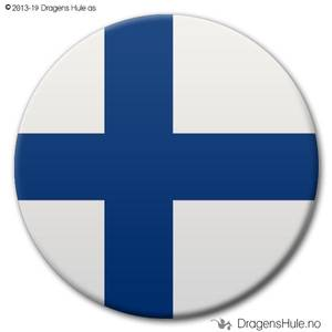 Bilde av  Button: Flagg Finland