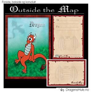 Bilde av Til-Fra-kort: Dragon, rød drage
