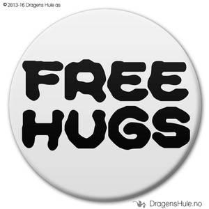 Bilde av  Button: Free Hugs A (velg farge)