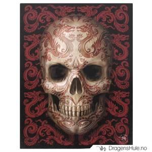 Bilde av Lerretstrykk: Anne Stokes: Oriental Skull 19x25cm