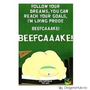 Bilde av Postkort: South Park: Cartman Beefcaaake!