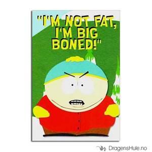 Bilde av Postkort: South Park: Cartman I´m Not Fat, I´m Big Boned!