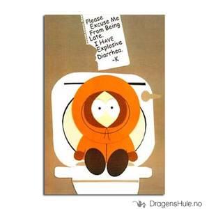 Bilde av Postkort: South Park: Kenny Explosive Diarrhea
