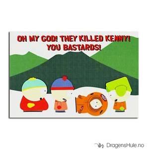 Bilde av Postkort: South Park: Oh My God! They Killed Kenny! A