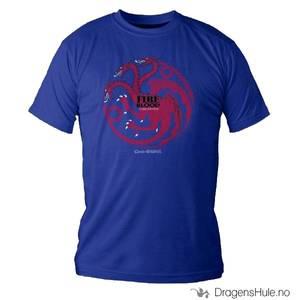 Bilde av T-skjorte: GoT Targaryen Logo H blå str M