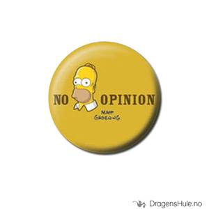 Bilde av Button 25mm: Simpsons: Homer -No opinion