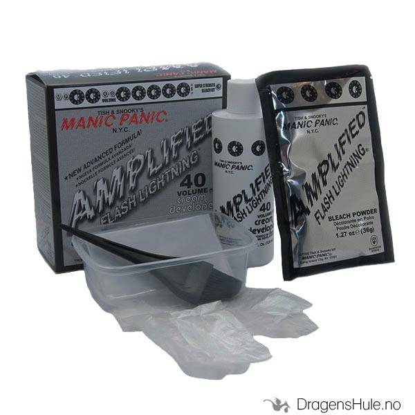 Blekemiddel: Manic Panic 40 vol. Bleaching Kit *les info nøye*