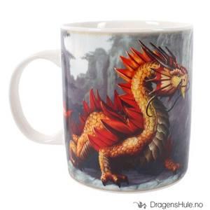 Bilde av Krus: Anne Stokes: Golden Mountain Dragon