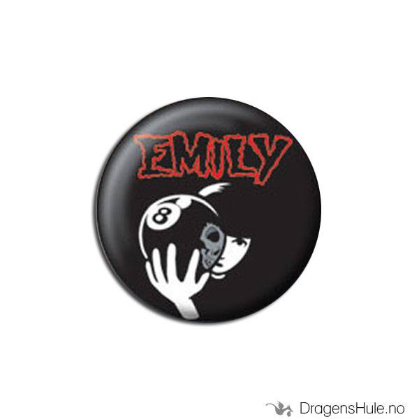 Button 25mm: Emily Strange 8 Ball