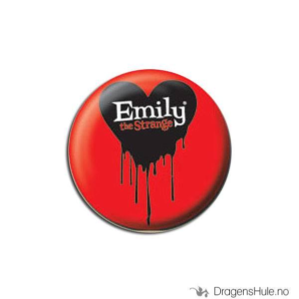 Button 25mm: Emily Strange Bleeding Heart