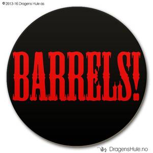 Bilde av  Button: Barrels! (velg farge)