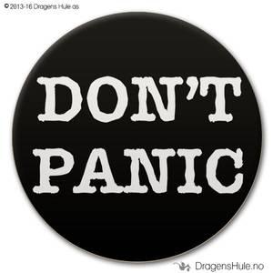 Bilde av  Button: Don´t Panic