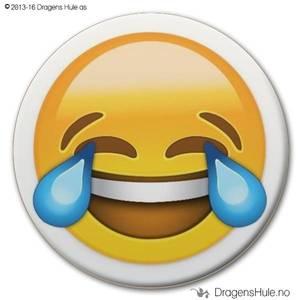 Bilde av  Button: Emoji Gledestårer