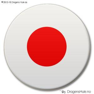 Bilde av  Button: Flagg Japan