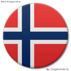 Bilde av  Button: Flagg Norge