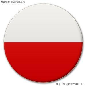 Bilde av  Button: Flagg Polen