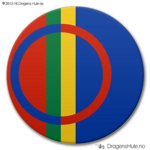 Bilde av  Button: Flagg Samisk