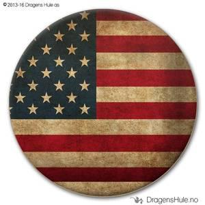 Bilde av  Button: Flagg USA Vintage