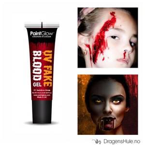 Bilde av Sminke-FX: Blod i tube m/ Oransje UV-effekt -10ml PaintGlow