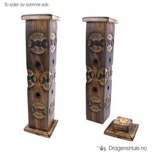 Bilde av Røkelsestårn: Wiccasymbol -31cm Tre