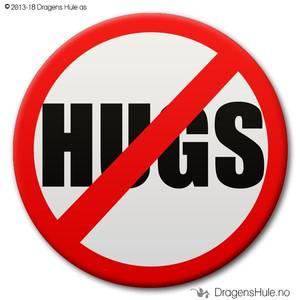 Bilde av  Button: Forbudt -Hugs