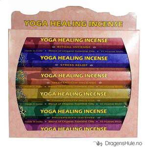 Bilde av Røkelse: Yoga Healing Gift Pack Agarbathi pinner