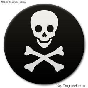 Bilde av  Button: Dødningesymbol (velg farge)