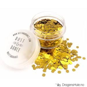 Bilde av Chunky Glitter: Gold Hexagons -D&D