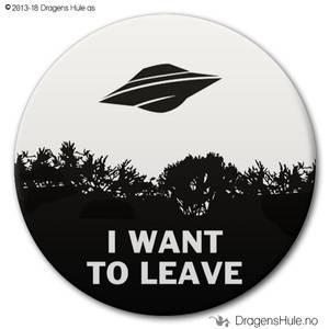 Bilde av  Button: I want to leave (velg farge)
