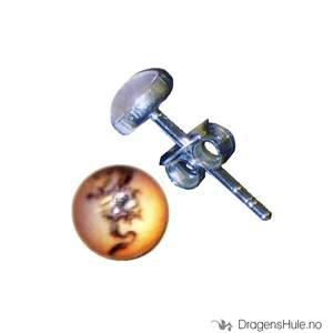 Bilde av Ørepynt: Bilde Orientalsk Drage -5mm Sølv (par)