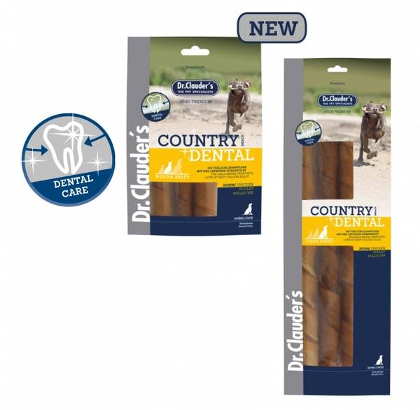 Country Dentalsnacks Kylling 315g. (Store Raser)