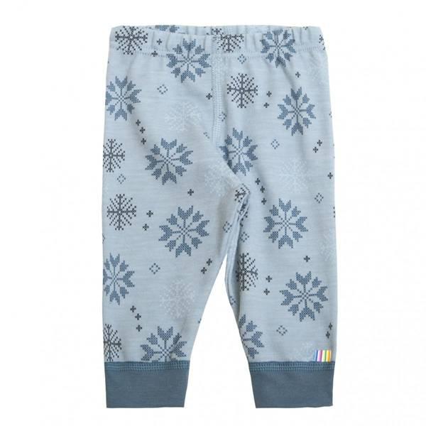 Bilde av Joha snow flock ull/bomull bukse, blå