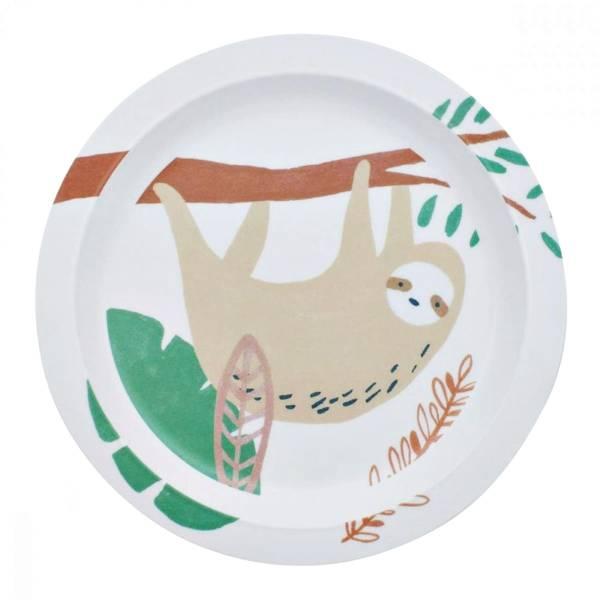 Bilde av Sebra melamin tallerken til barn, wildlife