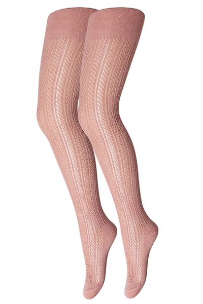 Bilde av MP bomull strømpebukse med hullmønster, peach