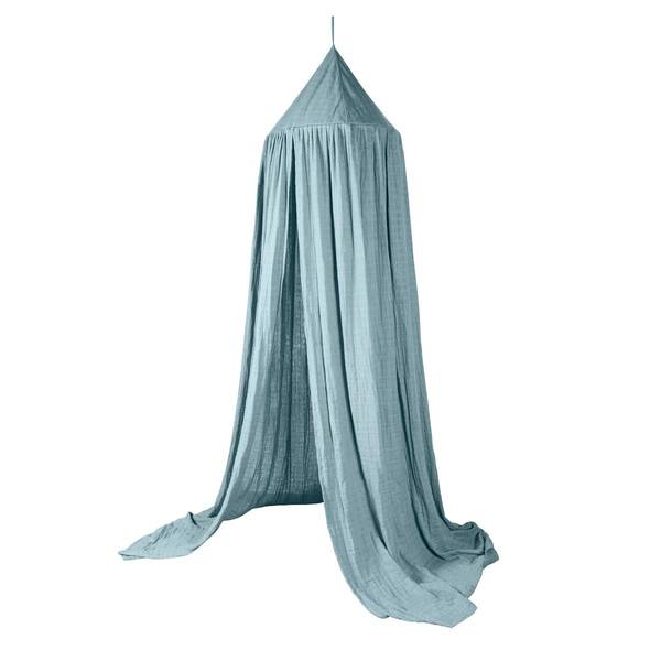 Bilde av Sebra sengehimmel til barnerom, eucalyptus blue