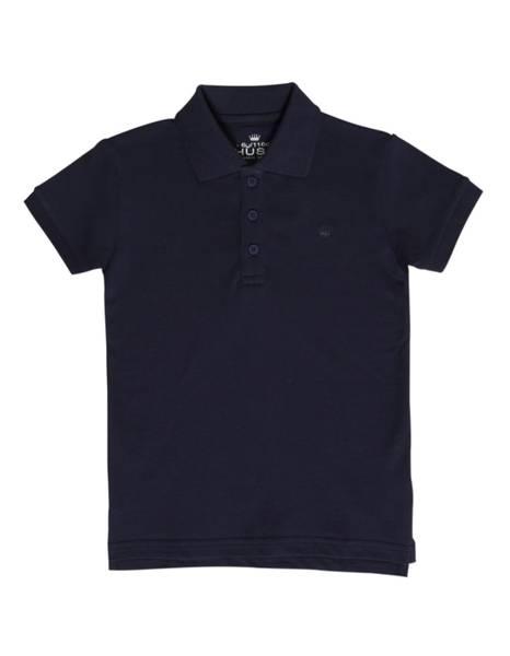 Bilde av Hust & Claire pique t-skjorte til barn, navy