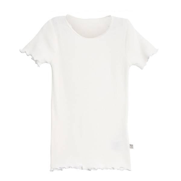 Bilde av Wheat ribb lace t-skjorte til barn, ivory
