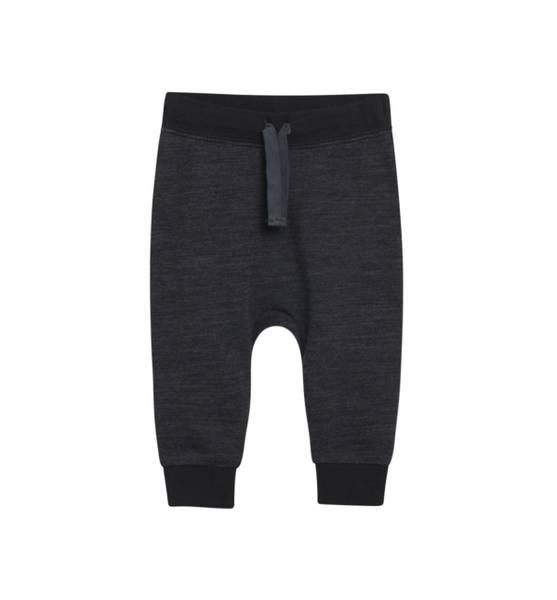 Bilde av Hust & Claire baggy ull/bambus bukse, mørk grå