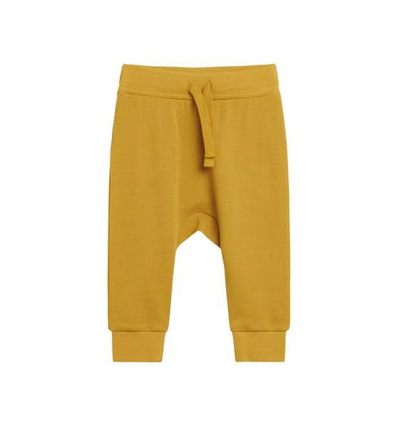 Bilde av Hust & Claire baggy ull/bambus bukse, Kanari gul