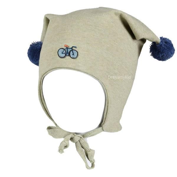 Bilde av Kivat vårlue til barn med sykkel, lys grønn og