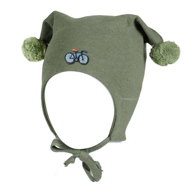 Bilde av Kivat vårlue til barn med sykkel, oliven