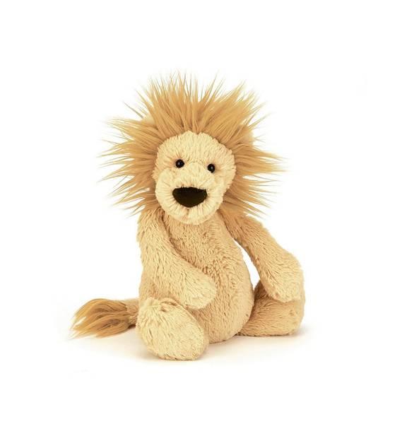 Bilde av Jellycat løve bamse 18 cm, beige-orange