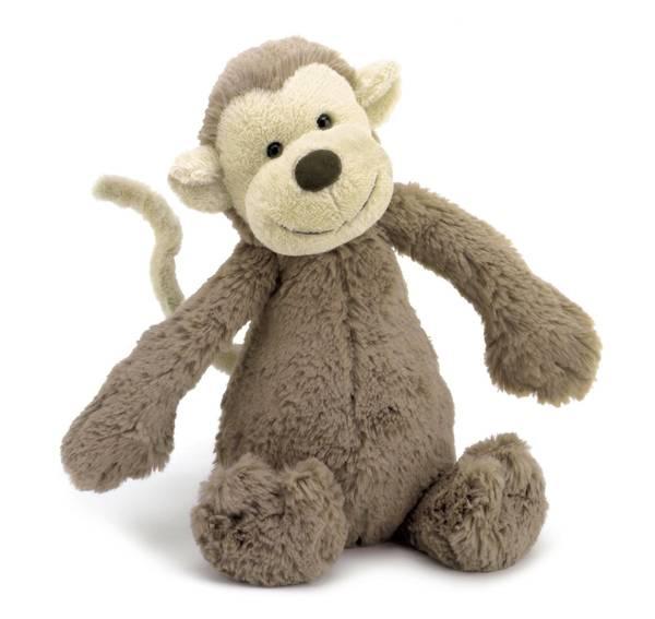 Bilde av Jellycat ape bamse 31 cm, beige og brun