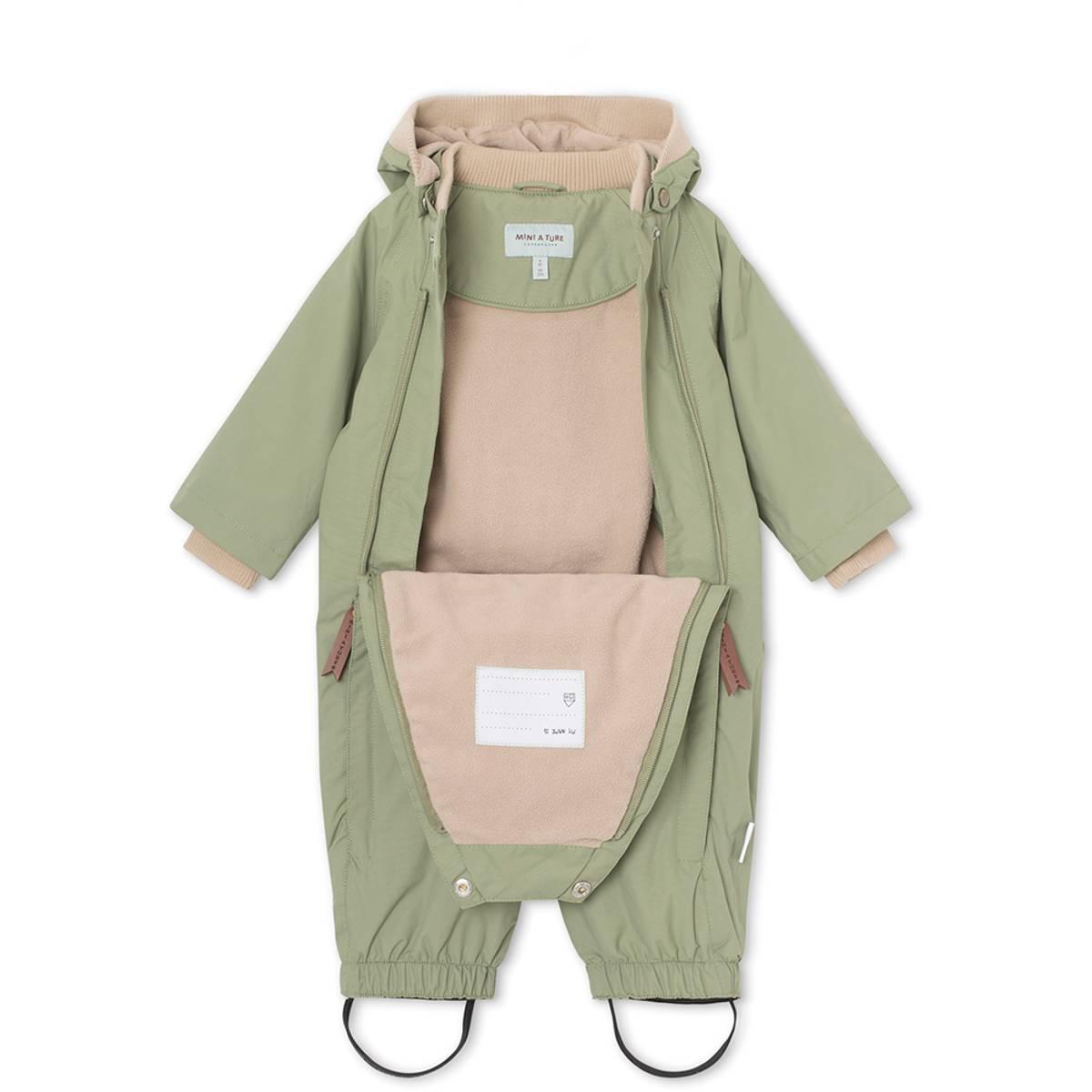 Mini A Ture parkdress / vårdress til barn, Oil green