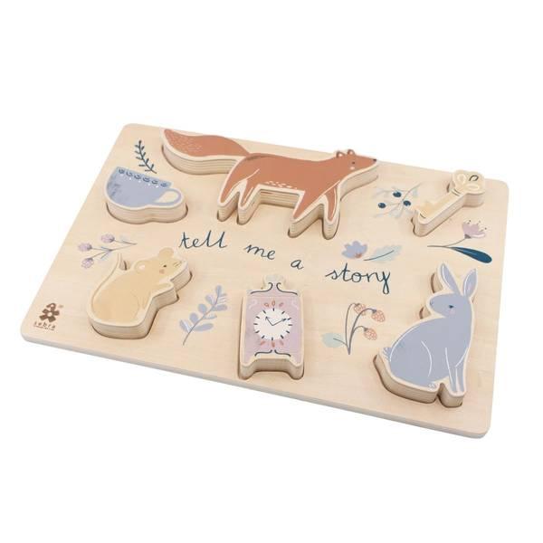Bilde av Sebra puslespill til barn, daydream
